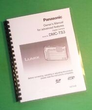 LASER PRINTED Panasonic DMC-TS3 Advanced Lumix Manual User Guide 186 Pages