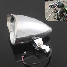Motorcycle Chrome Visor Bullet Headlight Lamp For Harley Bobber Chopper Dyna 12V