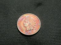 1906 Indian Cent Uncirculated purple/blue toning US coin copper one cent penny