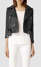 All Saints Brooklyn Donna 100% Pelle Da Motociclista/Moto Giacca Uk10/US6/EU38 £ 370 NUOVO