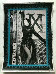 MADONNA MADAME X TOUR LITHOGRAPH POSTER CITI EXCLUSIVE LIMITED NUMBERED EDITION