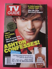 ASHTON KUTCHER demi moore TV GUIDE november 1 - 7,  2003