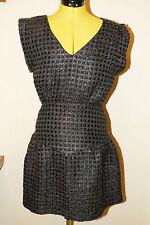 V-Neck Checked Mini Dresses for Women