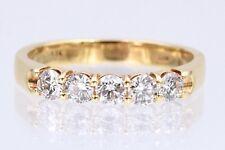0.60tcw 5 Round Diamonds & 18K Yellow Wedding Band, Color: G Clarity: VS size: 6