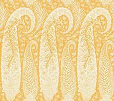 Wallpaper Designer Large Yellow and Eggshell White Paisley