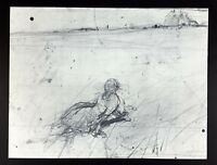 Andrew Wyeth Gravure Print First Drawing for Christina's World, Olson's