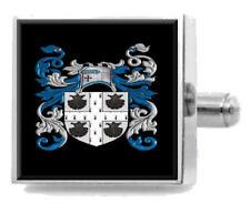 Crossman Inglaterra Familia Crest apellidos Escudo de Armas Clip de Corbata Grabado En Bolsa