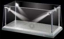 Acryl Display Case 1/18 Autos LED Beleuchtung silber Figuren Plexiglas Vitrine