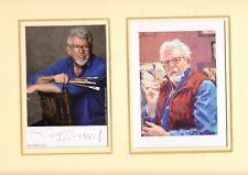ROLF HARRIS SELF PORTRAIT PICTURE AND PHOTOGRAPH MOUNTED 12 X 10 INCH SIGNED