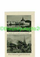 Bridges, Old Mandalay & Kengtung, Burma (Myanmar), Book Illustration, c1920