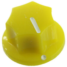 "Mini MXR style knob for guitar pedals amplifiers projects 1/4"" set screw- Yellow"