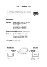 1pc. VCO  403 - 456 / 485 MHz, 5-9V, 0.5-2.5mW, Voltage Controlled Osc,Mod inpu