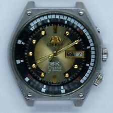 ORIENT SK Crystal Old Japan Vintage Mechanical Wrist Watch (259)