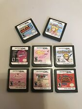 Lot Of 8 Nintendo DS Games Mario vs Donkey Kong 2 Super Princess Peach & More!