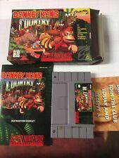 Donkey Kong Country SNES CIB  Original Box, Game,  Manual, Insert.