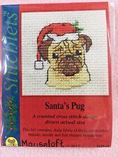 MOUSELOFT STITCHLETS Cross Stitch Kit ~ Santa's Carlin ~ NOËL ~ NOUVEAU