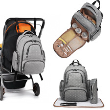 4pcs Maternity Bag Baby Changing Mummy Backpack Nappy Diaper Rucksack