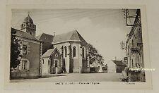 Carte Postale ANETZ Place de l'Eglise avec enseigne CAFE TABAC et POSTE RURALE