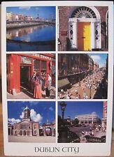 Irish Postcard DUBLIN City Ireland Multiview Ha'Penny Stephens Green John Hinde