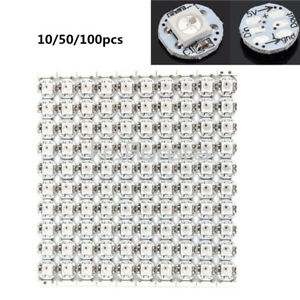 10/50/100PCS Mini WS2812B WS2811 IC 10mm*3mm DC5V SMD 5050 RGB Led light Sample