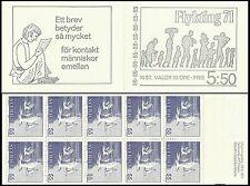 Suede Sweden Oiseaux Sternes Terns Birds Vogel Refugie Refugee ** 1971 Carnet