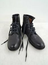 Frye Women's Black Leather Combat Ankle Boots Size 7.5B