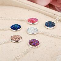 partie la mode silver améthyste le quartz druzy collier des bijoux crystal