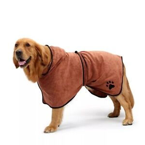 CLEARANCE Plain Dog towel/Dog robe, drying coat, brown or black