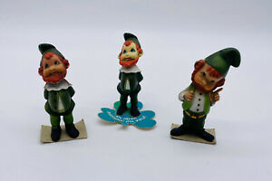 Lot 3 Vintage St Patricks St Pattys Day Leprechauns Decor Enesco