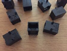 R/A 90°  mount solder through hole  8p8c (RJ45, Ethernet) JACK  10 PIECES  Z2495