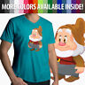 Snow White Seven Dwarfs Happy Disney Mens Women Unisex Top Tee V-Neck T-Shirt