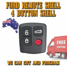 Ford 4 Button Remote Shell - FREE POSTAGE - Aus Seller - Easy To Fit!- Brand New