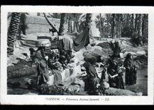 TOZEUR (TUNISIE) FEMMES JUIVES LAVANDIERES au BASSIN vers 1930