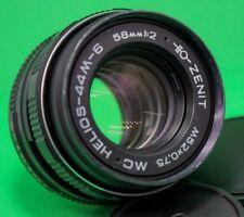 US Seller Helios 44m-6 58mm f2 Bokeh Zenit Portrait Lens DSLR M42 Mount Old 44-2
