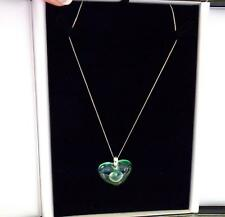 PENDANT - LALIQUE  LARGE DOUBLE HEARTS 9CT GOLD CHAIN  STUNNING -