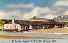 Murray Utah El Rancho Motel Street View Antique Postcard K51338