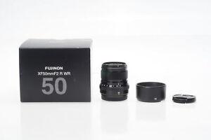 Fuji Fujifilm XF 50mm f2 R WR Lens 50/2 X Mount #111