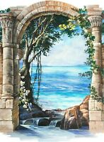 3D Stone Arches 0100 WallPaper Murals Wall Print Decal Wall Deco AJ WALLPAPER