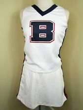 "Cheerleader Uniform Outfit Costume Adult 36"" Top 32 Waist Red White Blue Large B"