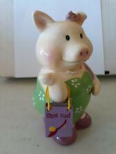 pig in a dress shoe fund ceramic piggy coin bank Roman Inc