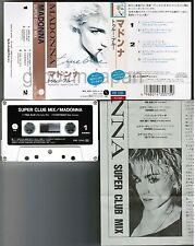MADONNA Super Club Mix-True Blue JAPAN 5-track CASSETTE TAPE PKF-1045 w/Insert