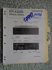 Kenwood kr-a4020 Service Manual Original Reparatur Buch Stereo Receiver Tuner Radio