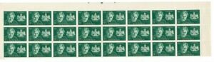 Stamps 1963 Australia 5d Burley Griffith top margin block of 24 perf pips, MUH