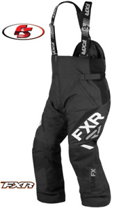 New 2021 FXR Men's Team FX Snowmobile Pants Bibs Black-Size 2XL-SH Short