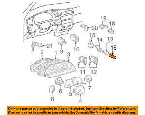 TOYOTA OEM Dash Cluster Switch-Element 8552028010