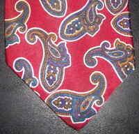 John Weitz Tie Silk Blend Red Teal Purple Tan Paisley Design NIB t122