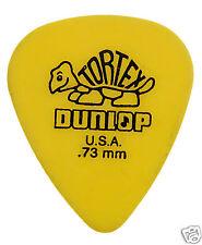 Jim Dunlop Tortex Guitar Picks 418R73 - 0.73mm Gauge - 72 Pack - Yellow