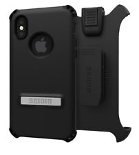 "Seidio Dilex Pro Active Combo Holster &Case For Apple iPhone X 5.8"" Inch Black"