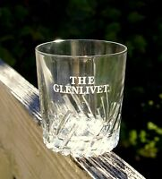 The Glenlivet Etched Drinking Glass Scotch Whisky On The Rocks Whiskey Lowball