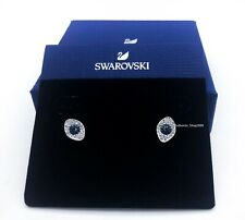 NEW SWAROVSKI Brand Rose Gold Blue White Symbolic Pierced Stud Earrings 5510067